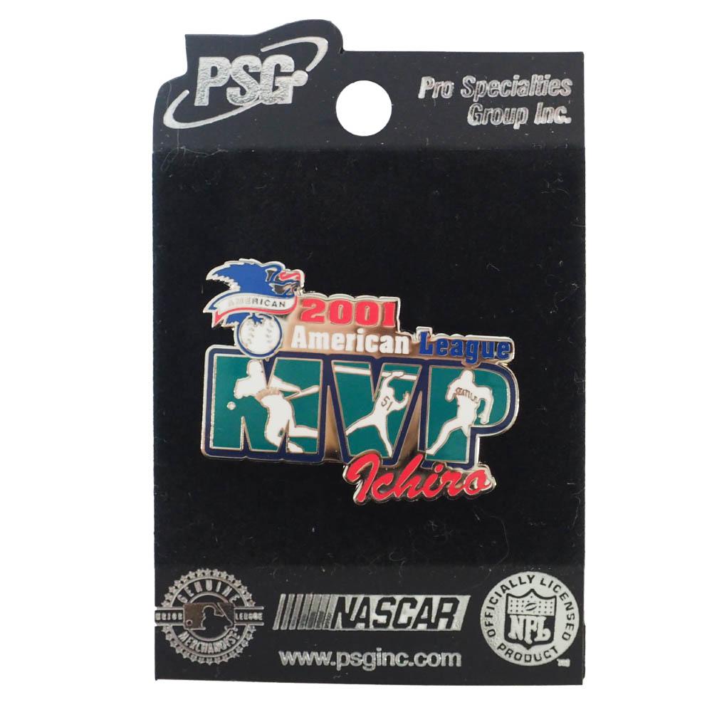 MLBマリナーズ イチロー選手モデルのピンバッチ 日本最大級の品揃え MLB イチロー シアトル マリナーズ 2001 リーグ ア Pin ピンバッチ 海外 MVP ピンズ PSG