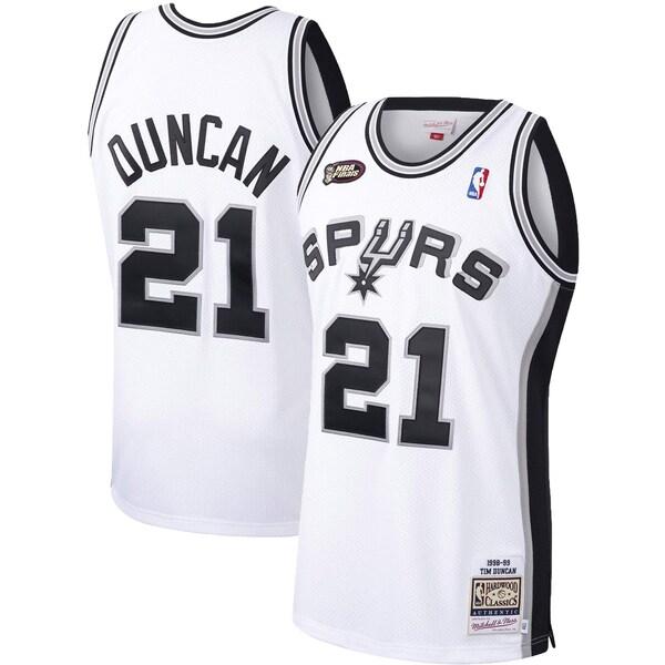 NBA ティム・ダンカン スパーズ ユニフォーム/ジャージ 1998-99 ハードウッドクラシックス オーセンティック ミッチェル&ネス