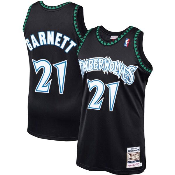NBA ケビン・ガーネット ティンバーウルブズ ユニフォーム/ジャージ ハードウッドクラシックス 1997-98 ミッチェル&ネス ブラック