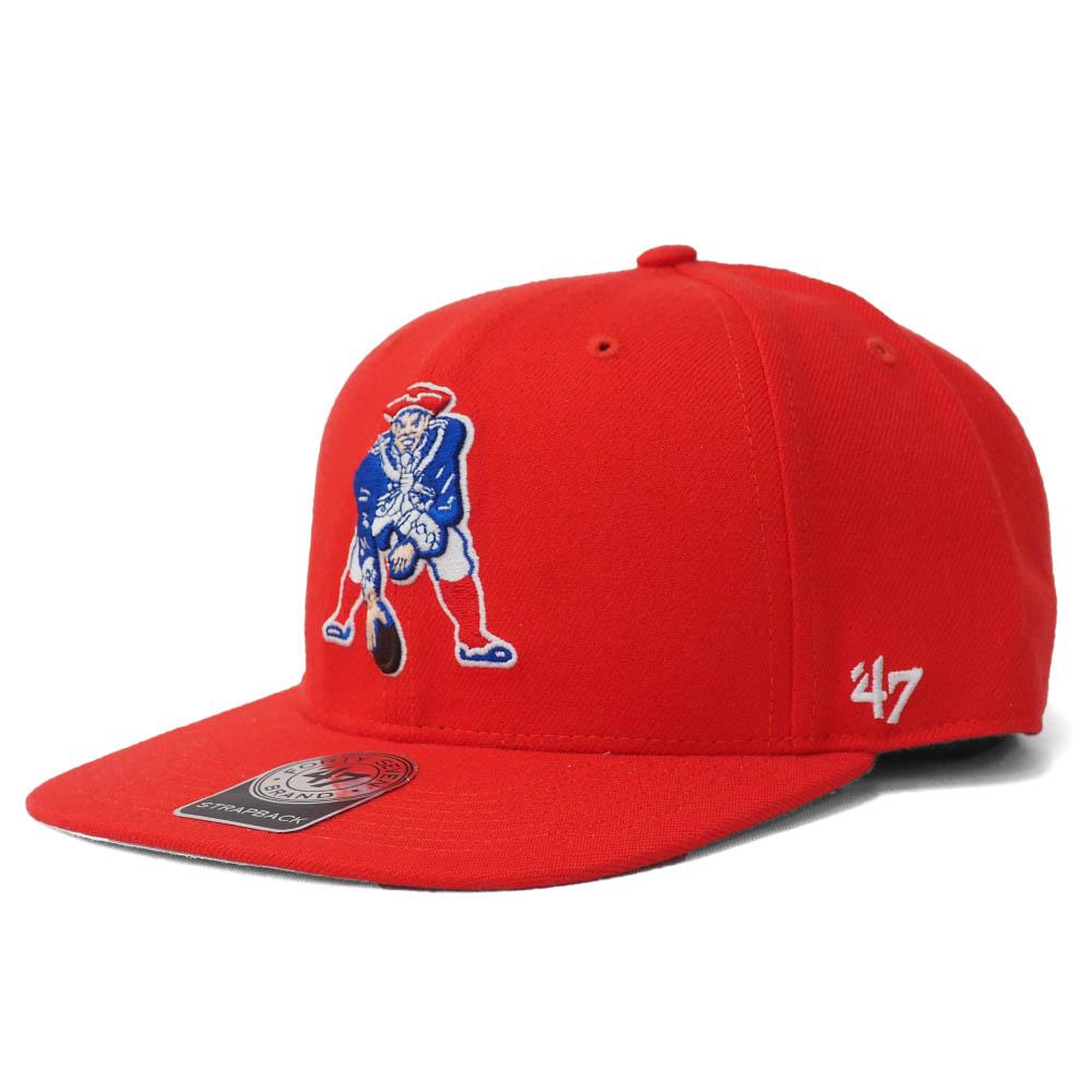 NFL トム・ブレイディ ペイトリオッツ キャップ/帽子 サイン刺繍入り スーパー ショット (パットザパトリオット ロゴ) 47 Brand レッド