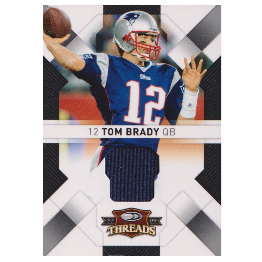 NFL トム・ブレイディ ペイトリオッツ トレーディングカード/スポーツカード 【1点物】2009 ジャージ カード Donruss