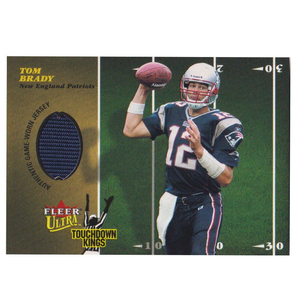 NFL トム・ブレイディ ペイトリオッツ トレーディングカード/スポーツカード 【1点物】2003 ジャージ カード Fleer