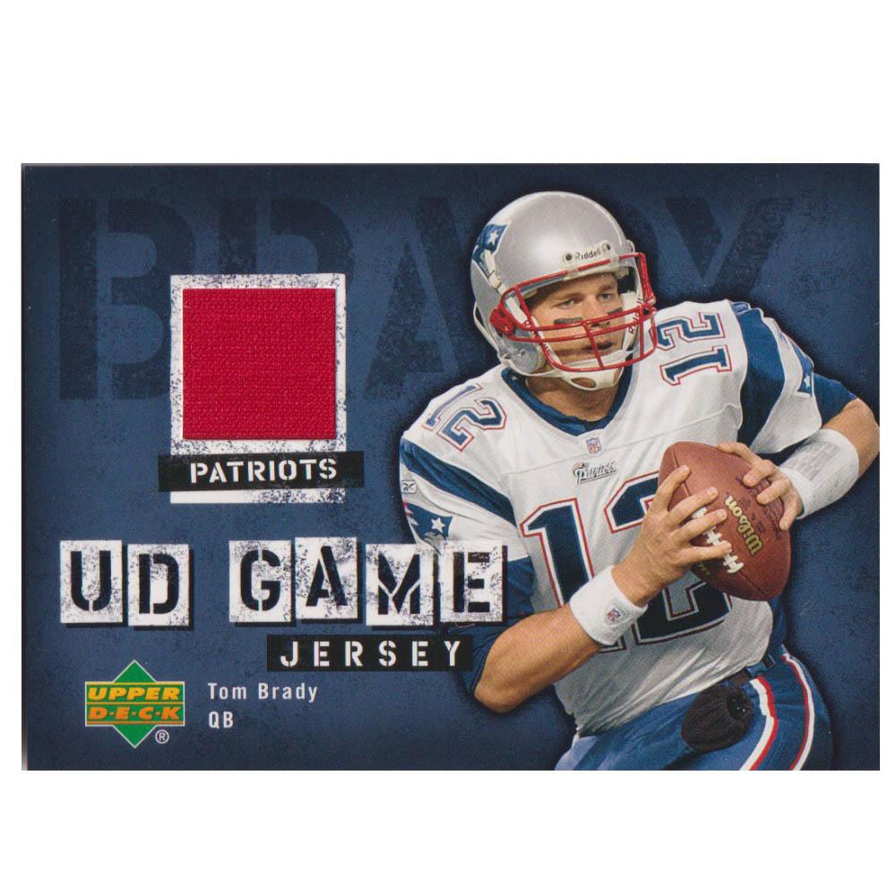 NFL トム・ブレイディ ペイトリオッツ トレーディングカード/スポーツカード 【1点物】2006 ジャージ カード Upperdeck