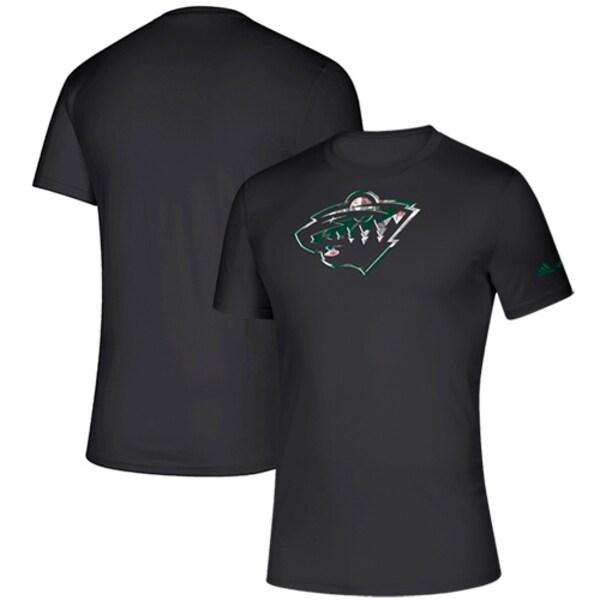NHL ワイルド Tシャツ Creator climalite T-Shirt アディダス/Adidas ブラック