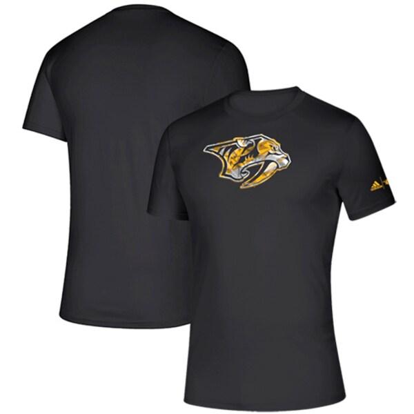 NHL プレデターズ Tシャツ Creator climalite T-Shirt アディダス/Adidas ブラック