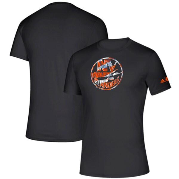NHL アイランダース Tシャツ Creator climalite T-Shirt アディダス/Adidas ブラック