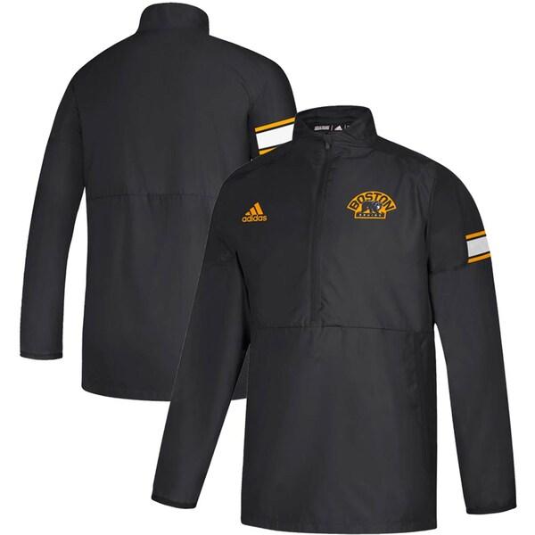NHL ブルーインズ ジャケット/アウター Game Mode Quarter-Zip Pullover Jacket アディダス/Adidas ブラック