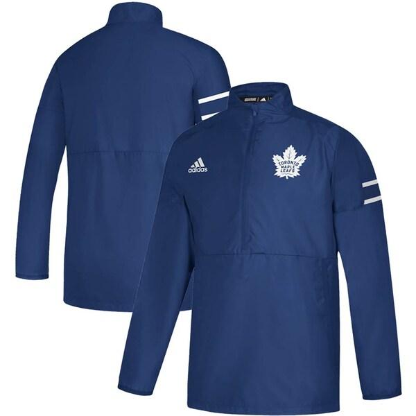NHL メープルリーフス ジャケット/アウター Game Mode Quarter-Zip Pullover Jacket アディダス/Adidas ブルー