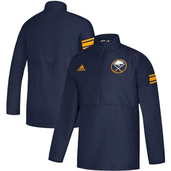 NHL セイバーズ ジャケット/アウター Game Mode Quarter-Zip Pullover Jacket アディダス/Adidas ネイビー