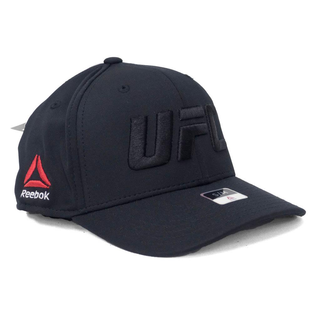<title>あす楽対応 世界最強の総合格闘技 UFCロゴキャップ UFC 超定番 キャップ 帽子 Structured フレックス リーボック Reebok Black</title>