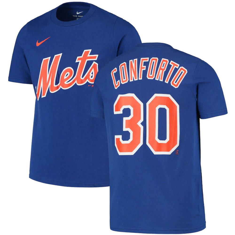 <title>あす楽対応 MLB x Nike ネームナンバー Tシャツ マイケル コンフォルト ニューヨーク メッツ おしゃれ ネーム ナンバー ナイキ ロイヤル</title>