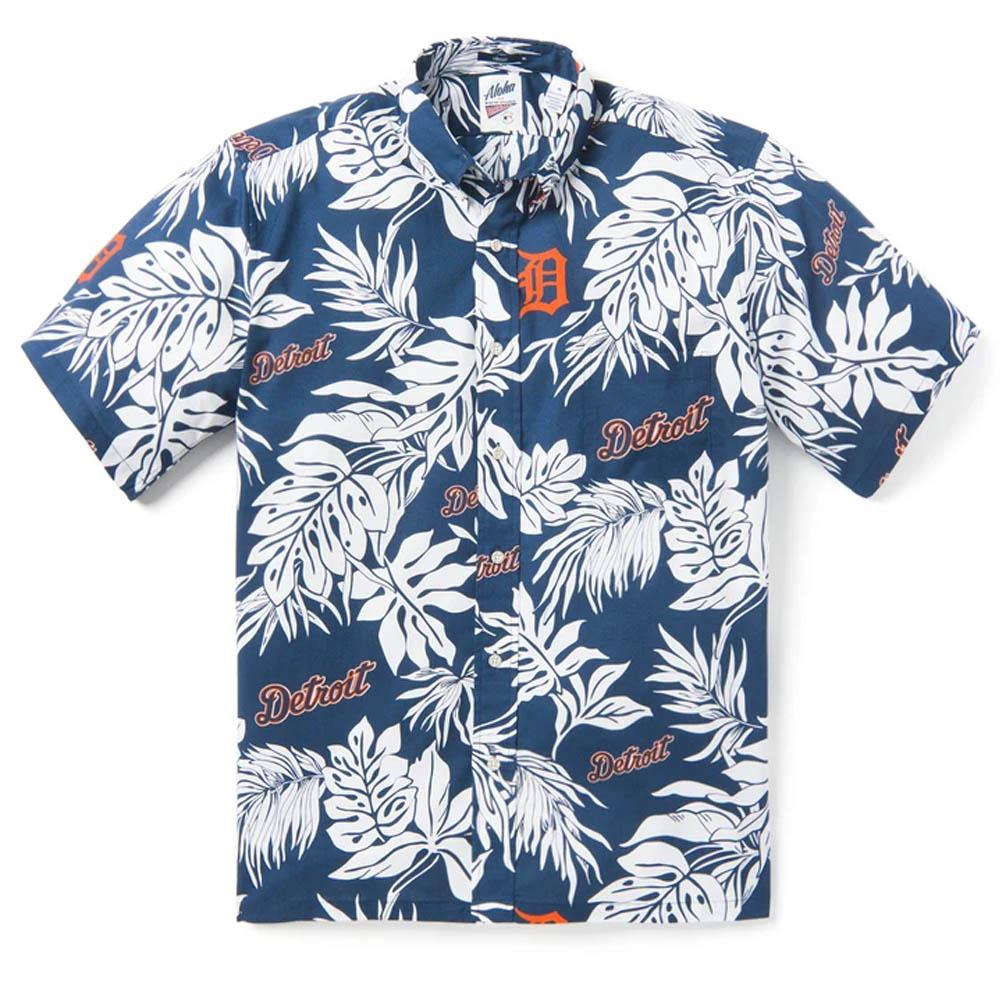 MLB デトロイト・タイガース アロハシャツ ハワイアンシャツ Reyn Spooner ネイビー