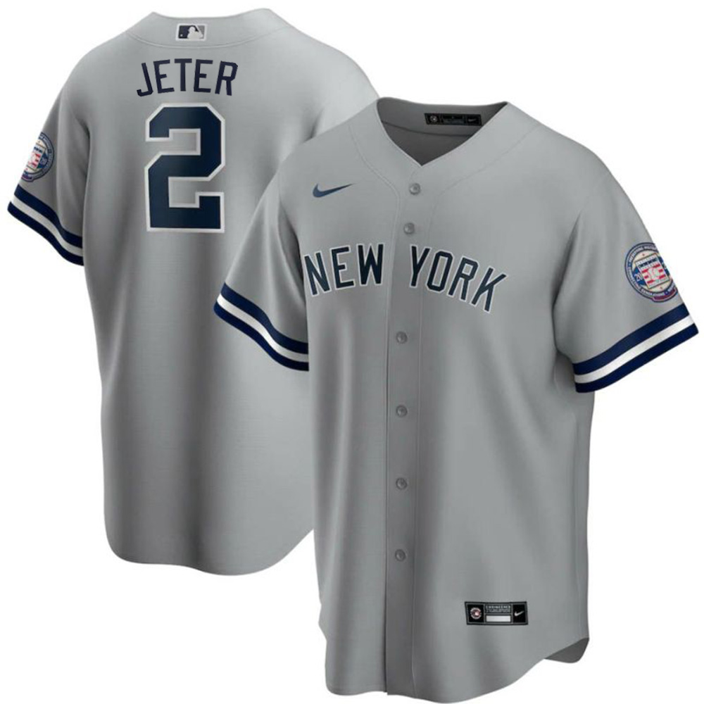MLB デレク・ジーター ニューヨーク・ヤンキース ユニフォーム/ジャージ 2020 殿堂入り レプリカ ナイキ/Nike グレー