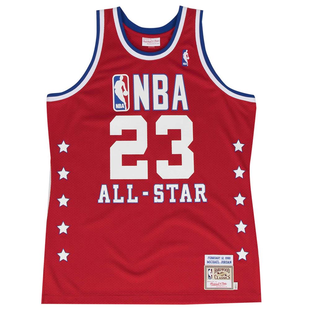 NBA マイケル・ジョーダン イースト ユニフォーム/ジャージ 1989オールスター ミッチェル&ネス/Mitchell & Ness レッド