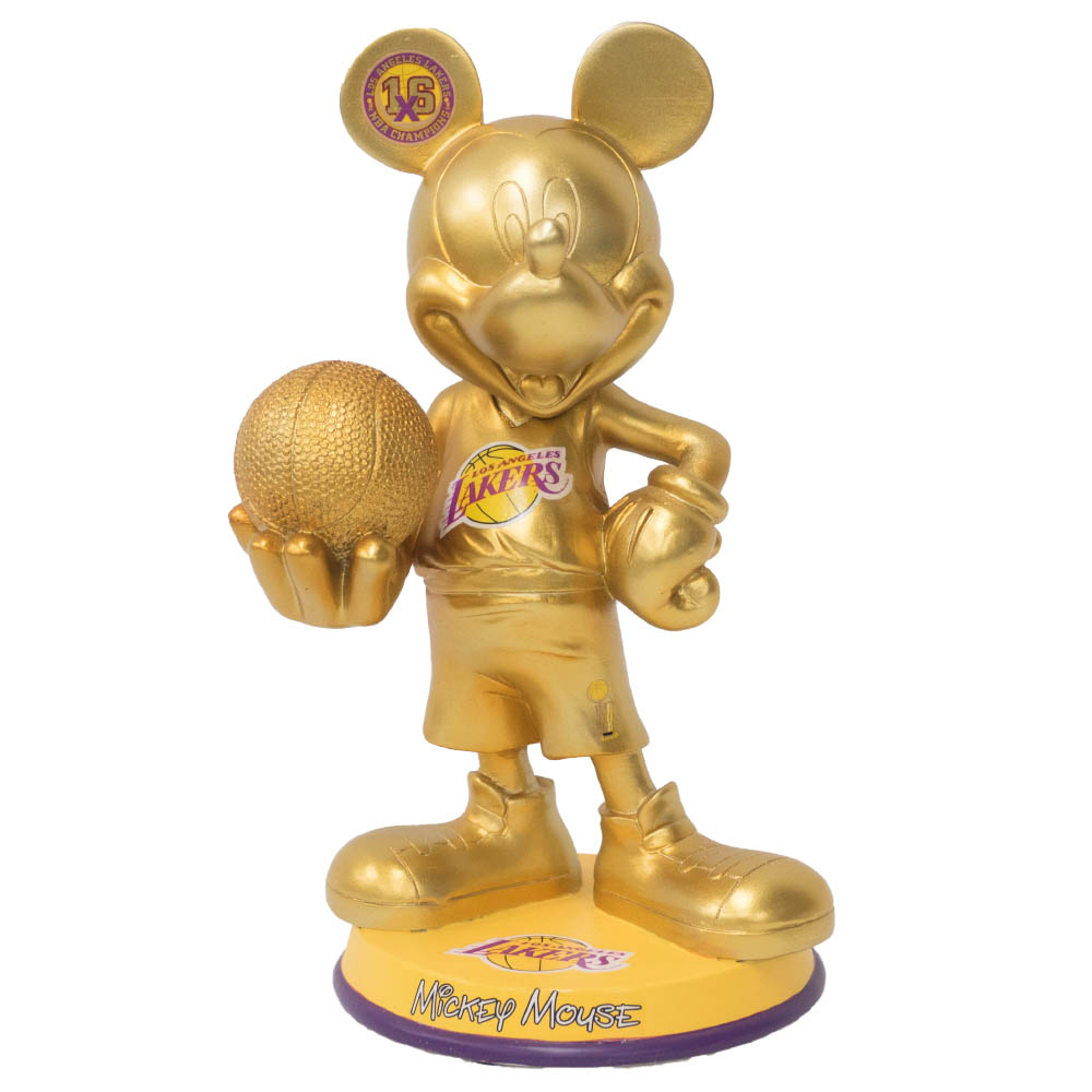 NBA ロサンゼルス・レイカーズ フィギュア 2011オールスター ディズニー ミッキーマウス Forever Collectibles ゴールド