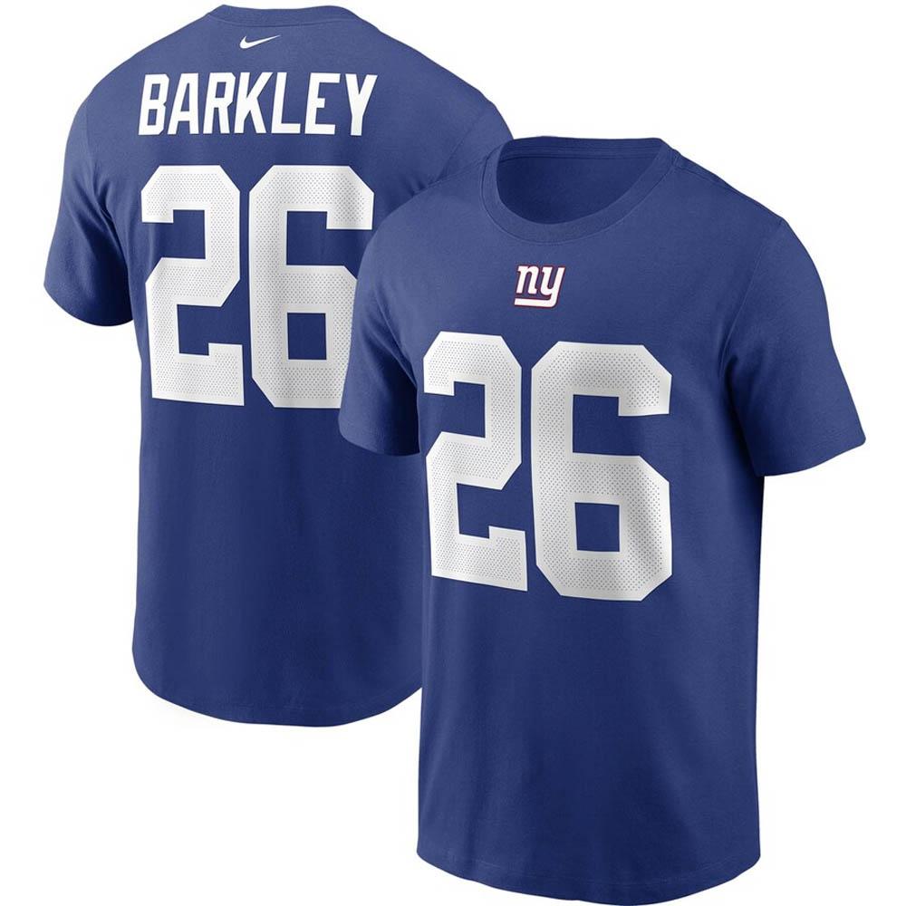 あす楽対応 王道ファングッズ ナイキNFLネーム ナンバーTシャツ NFL サクオン バークリー 10%OFF ジャイアンツ 激安超特価 ナイキ ナンバー Nike Tシャツ ロイヤル プレーヤー ネーム チーム
