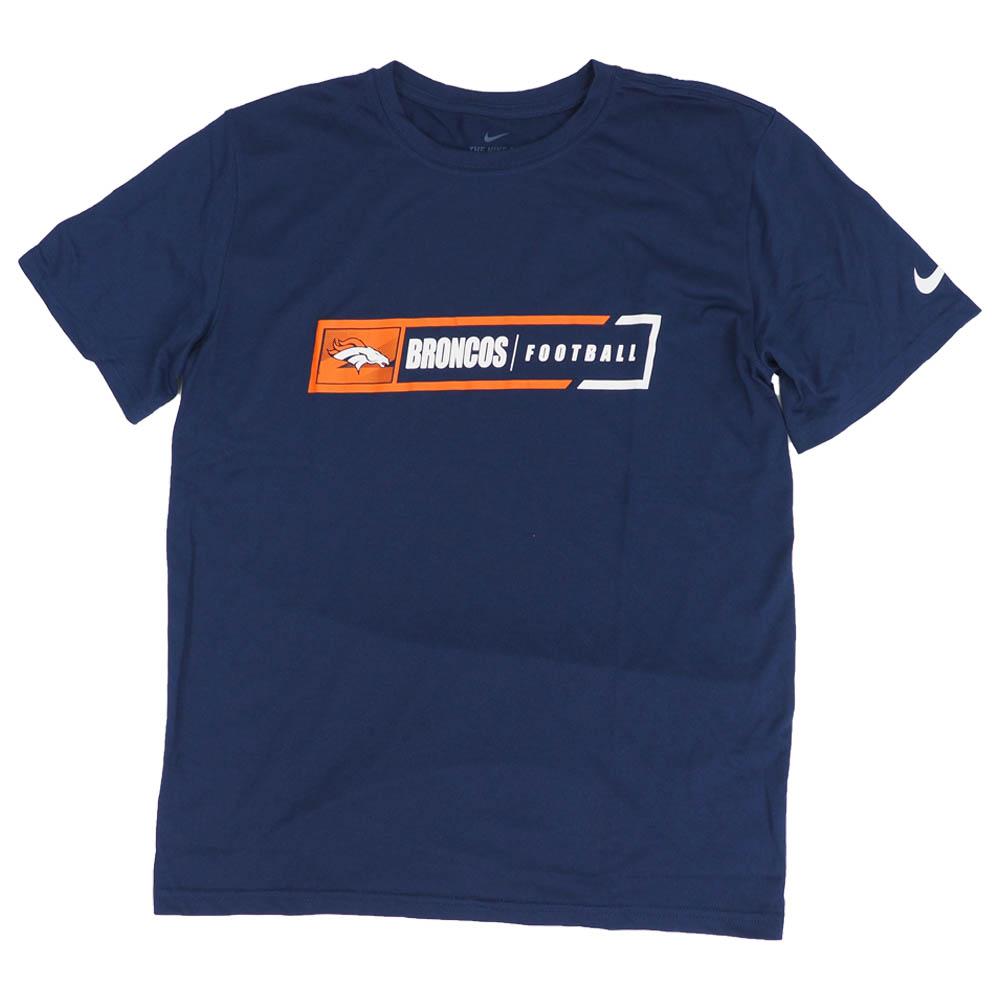 あす楽対応 NFL x NikeチームロゴTシャツ 賜物 100%品質保証 ブロンコス Tシャツ フットボール レジェンド ナイキ Nike パフォーマンス ネイビー