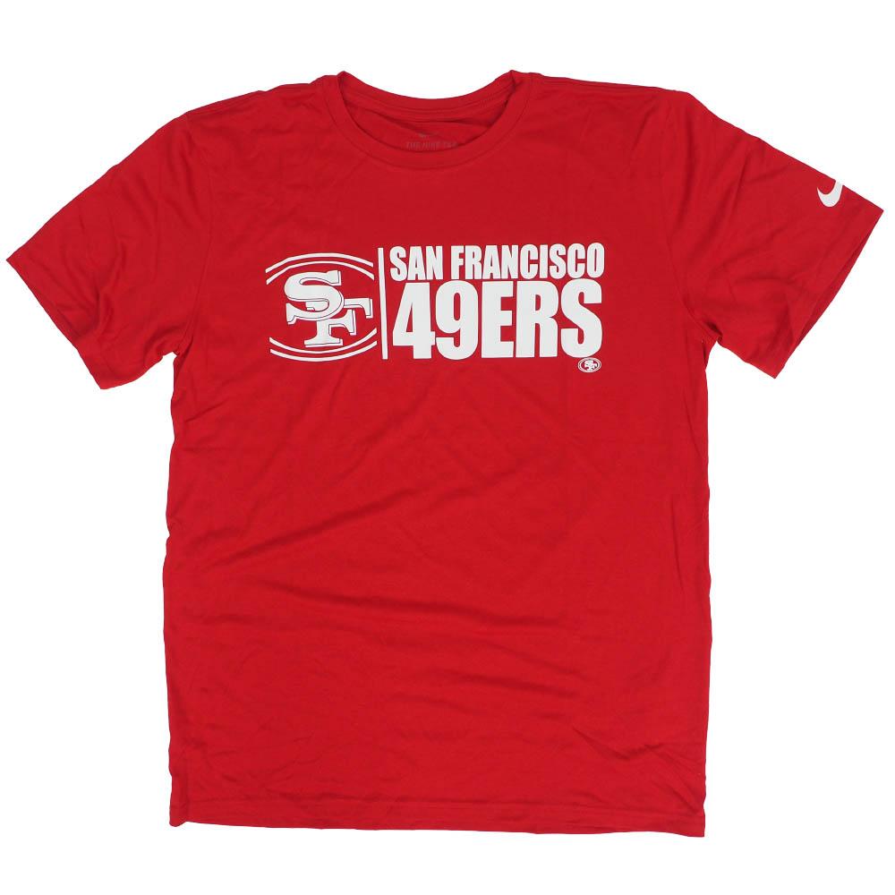 あす楽対応 NFL 感謝価格 即納 x NikeチームロゴTシャツ 49ers Tシャツ チーム インパクト ナイキ レジェンド パフォーマンス ブラック Nike