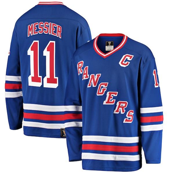 NHL マーク・メシエ レンジャース ユニフォーム/ジャージ プレミア ブレイクアウェイ ブルー