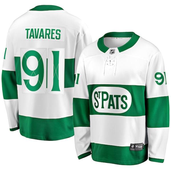 NHL ジョン・タヴァレス セントパトリックス ユニフォーム/ジャージ プレミア ブレイクアウェイ ホワイト