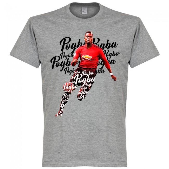 サッカー界のスター選手が勢揃い グラフィックTシャツ SOCCER 日本限定 ポール ポグバ マンチェスター グレー Tシャツ RETAKE スクリプト ユナイテッドFC 市販