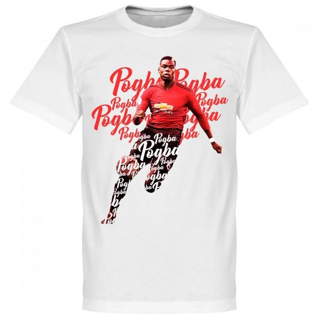 サッカー界のスター選手が勢揃い グラフィックTシャツ SOCCER ポール ポグバ マンチェスター 新作送料無料 記念日 Tシャツ スクリプト ホワイト RETAKE ユナイテッドFC