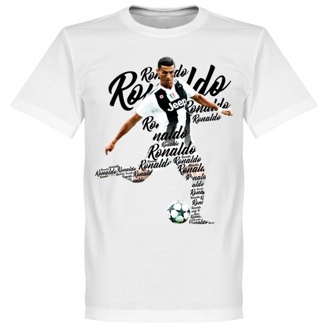 サッカー界のスター選手が勢揃い グラフィックTシャツ SOCCER クリスティアーノ ロナウド ユヴェントスFC 数量限定アウトレット最安価格 スクリプト 通販 RETAKE ホワイト Tシャツ