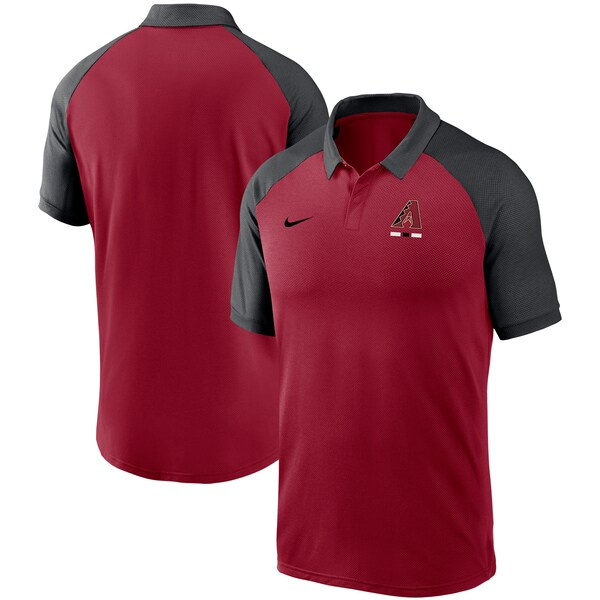 MLB アリゾナ・ダイヤモンドバックス レガシー トライブレンド ラグラン パフォーマンス ポロシャツ ナイキ/Nike レッド