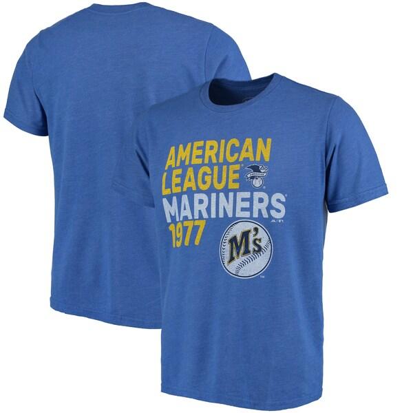 MLB シアトル・マリナーズ Tシャツ スローバック クーパーズタウン トライブレンド マジェスティック/Majestic ロイヤル