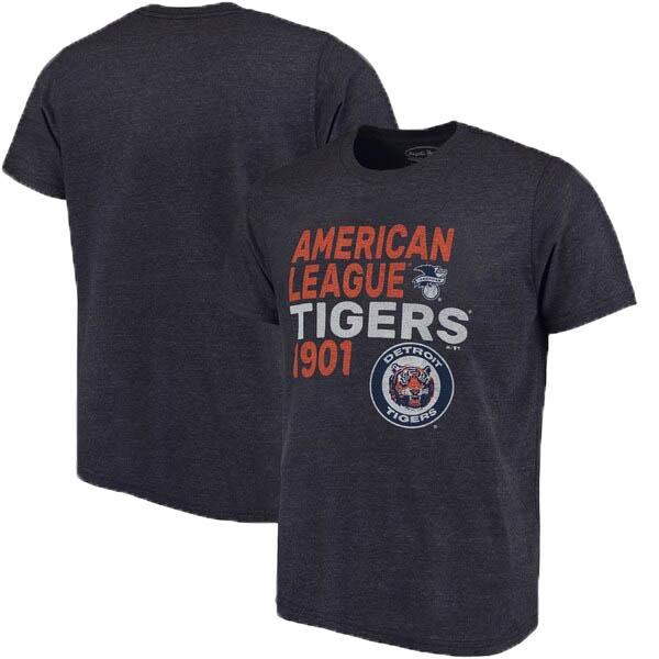 MLB デトロイト・タイガース Tシャツ スローバック クーパーズタウン トライブレンド マジェスティック/Majestic ネイビー