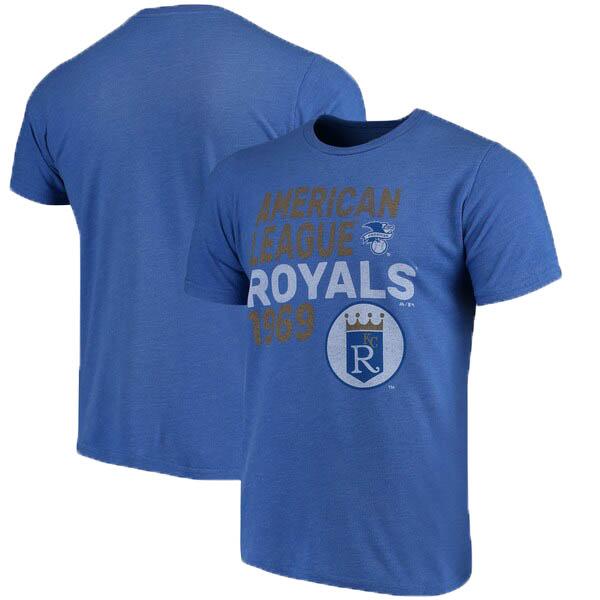 MLB カンザスシティ・ロイヤルズ Tシャツ スローバック クーパーズタウン トライブレンド マジェスティック/Majestic ロイヤル