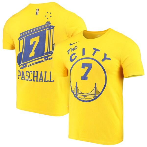NBA エリック・パスカル ウォリアーズ Tシャツ ハードウッド クラシックス ネーム & ナンバー ナイキ/Nike ゴールド