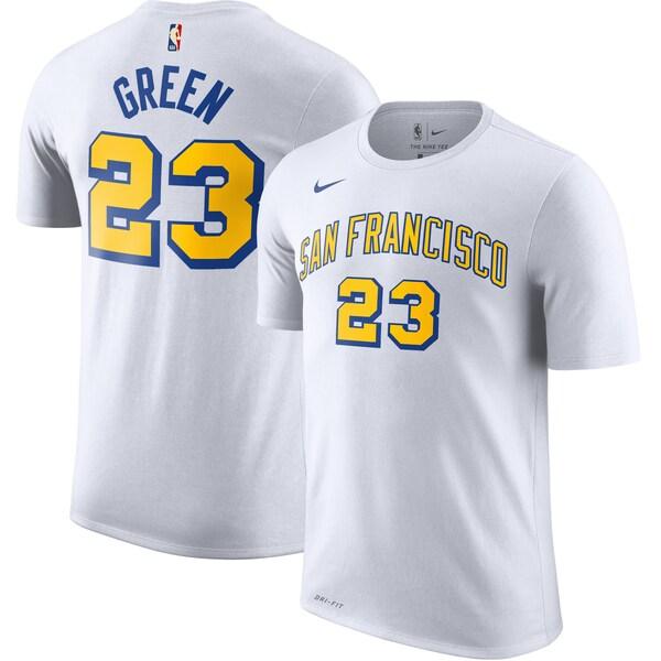 NBA ドレイモンド・グリーン ウォリアーズ Tシャツ ハードウッド クラシック ネーム & ナンバー ナイキ/Nike ホワイト
