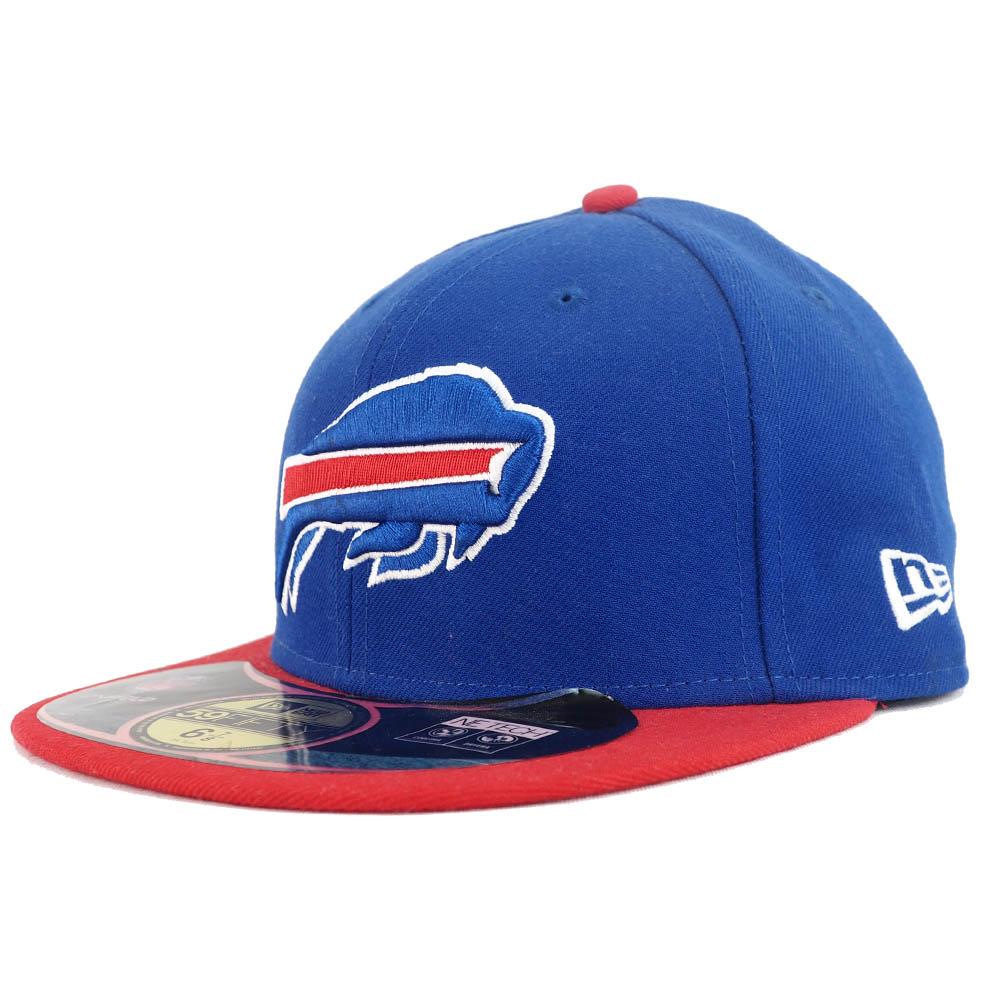 あす楽対応 プレーヤーが試合中に着用するオーセンティックモデルキャップ NFL ビルズ OUTLET SALE キャップ 帽子 オンフィールド New Era パフォーマンス 格安SALEスタート 59FIFTY ニューエラ ロイヤル レッド