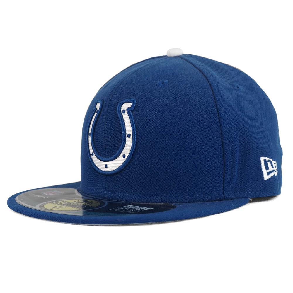 あす楽対応 プレーヤーが試合中に着用するオーセンティックモデルキャップ NFL コルツ キャップ 帽子 100%品質保証! オンフィールド 誕生日プレゼント パフォーマンス ロイヤル 59FIFTY Era ニューエラ New