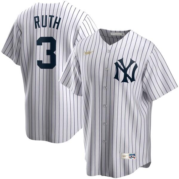 MLB ベーブ・ルース ニューヨーク・ヤンキース ユニフォーム/ジャージ クーパーズタウン コレクション ナイキ/Nike ホワイト
