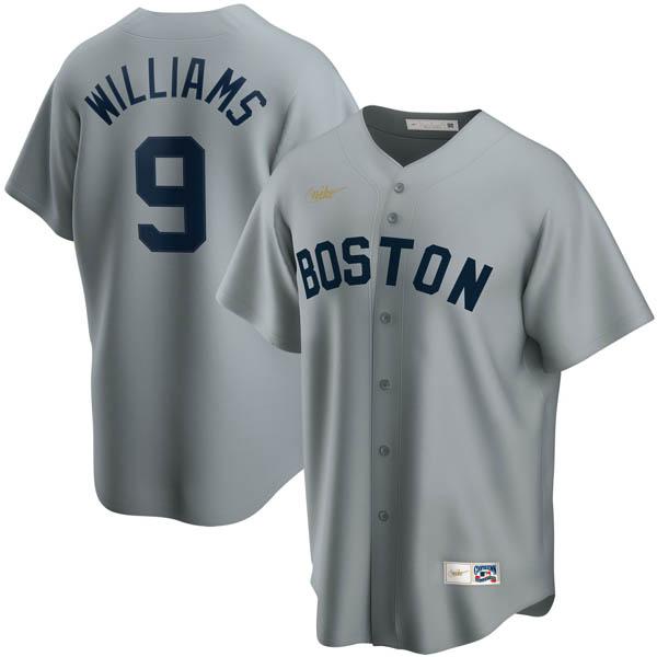 MLB テッド・ウィリアムズ ボストン・レッドソックス ユニフォーム/ジャージ クーパーズタウン コレクション ナイキ/Nike グレー
