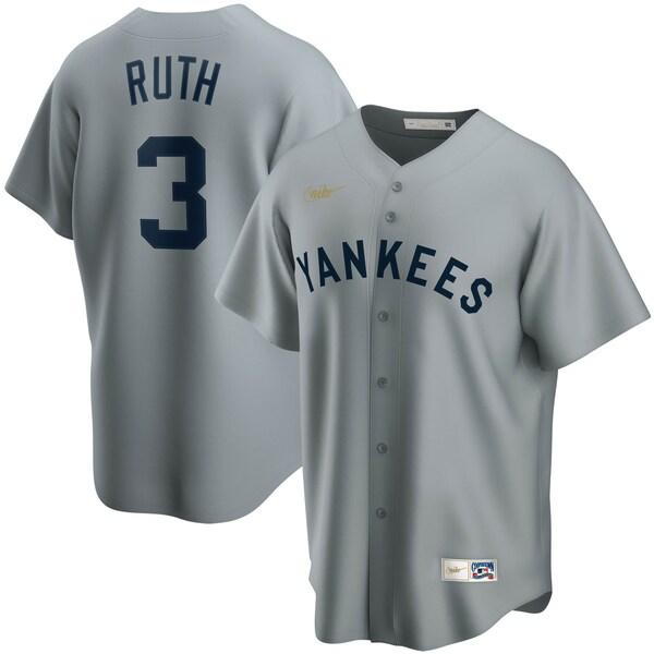 MLB ベーブ・ルース ニューヨーク・ヤンキース ユニフォーム/ジャージ クーパーズタウン コレクション ナイキ/Nike グレー