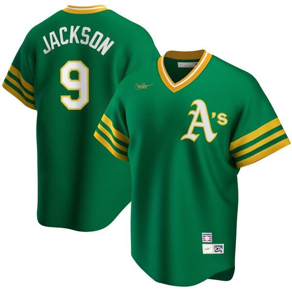 MLB レジー・ジャクソン アスレチックス ユニフォーム/ジャージ クーパーズタウン コレクション ナイキ/Nike ケリーグリーン