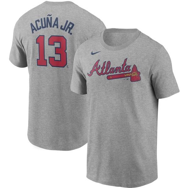 MLB ロナルド・アクーニャ・ジュニア アトランタ・ブレーブス Tシャツ ネーム & ナンバー ナイキ/Nike グレー