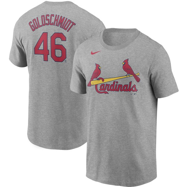 MLB ポール・ゴールドシュミット セントルイス・カージナルス Tシャツ ネーム & ナンバー ナイキ/Nike グレー