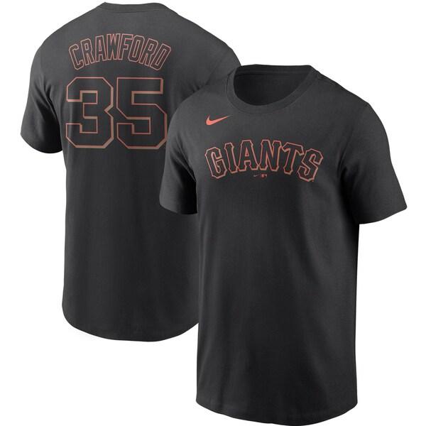 MLB ブランドン・クロフォード サンフランシスコ・ジャイアンツ Tシャツ ネーム & ナンバー ナイキ/Nike ブラック