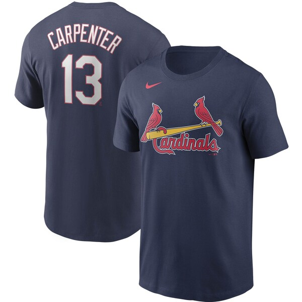 MLB マット・カーペンター セントルイス・カージナルス Tシャツ ネーム & ナンバー ナイキ/Nike ネイビー