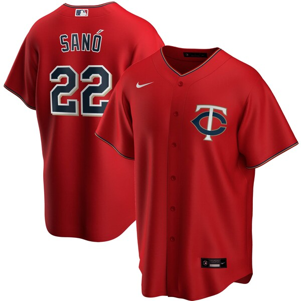 MLB ミゲル・サノ ミネソタ・ツインズ ユニフォーム/ジャージ オルタネート 2020 レプリカ ナイキ/Nike レッド