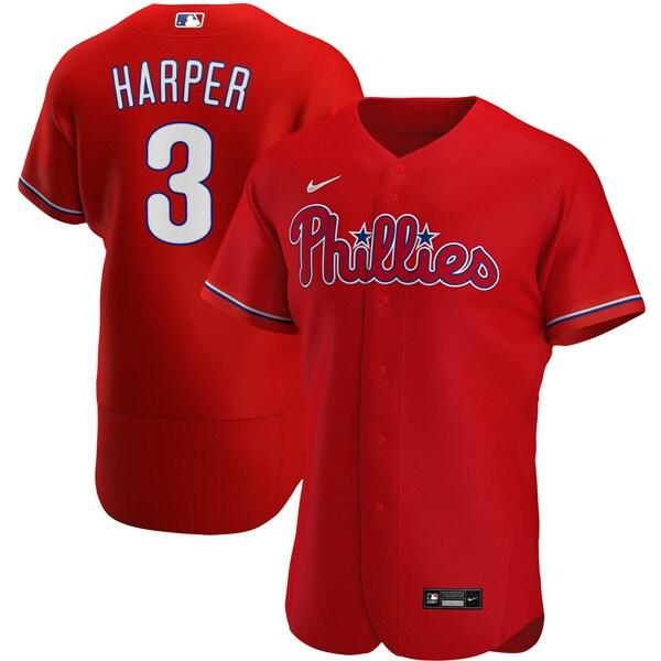 MLB ブライス・ハーパー フィラデルフィア・フィリーズ ユニフォーム/ジャージ オルタネート 2020 オーセンティック ナイキ/Nike レッド