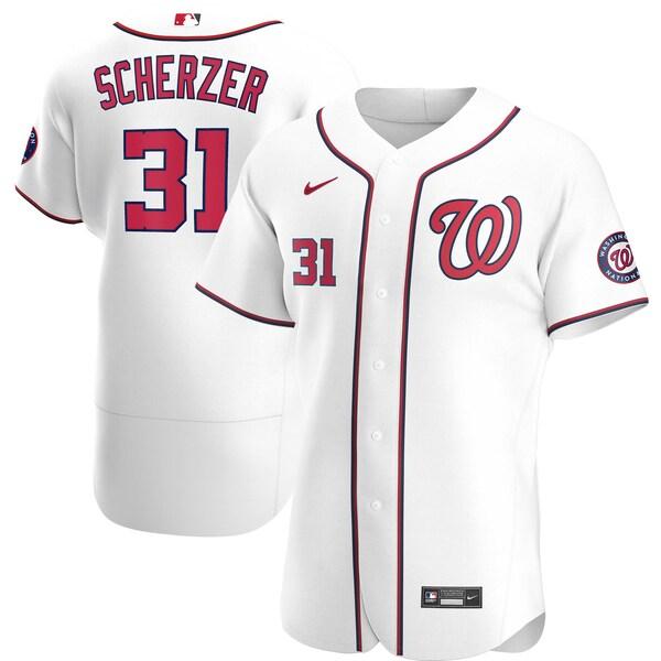 MLB マックス・シャーザー ワシントン・ナショナルズ ユニフォーム/ジャージ ホーム 2020 オーセンティック ナイキ/Nike ホワイト
