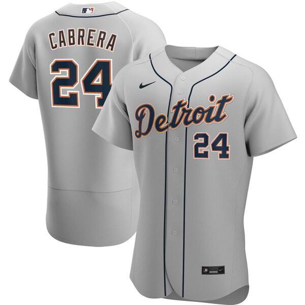 MLB ミゲル・カブレラ デトロイト・タイガース ユニフォーム/ジャージ ロード 2020 オーセンティック ナイキ/Nike グレー