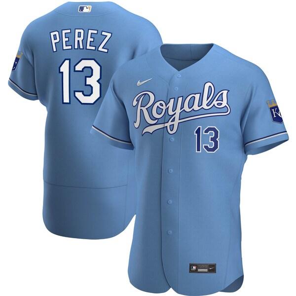 MLB サルバドール・ペレス ロイヤルズ ユニフォーム/ジャージ オルタネート 2020 オーセンティック ナイキ/Nike ライトブルー