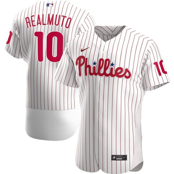MLB J.T.リアルミュート フィラデルフィア・フィリーズ ユニフォーム/ジャージ ホーム 2020 オーセンティック ナイキ/Nike ホワイト
