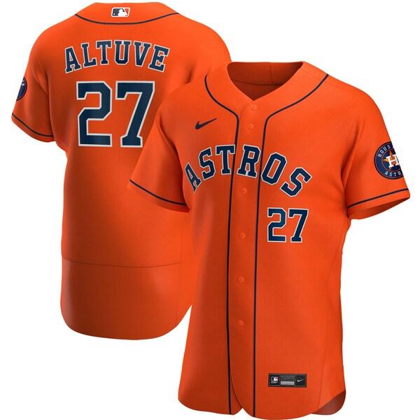 MLB ホセ・アルテューベ ヒューストン・アストロズ ユニフォーム/ジャージ オルタネート 2020 オーセンティック ナイキ/Nike オレンジ